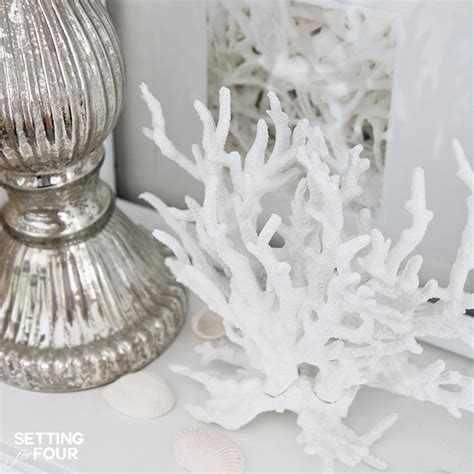 faux spike coral tropical home decor by pottery barn make faux coral inspired by pottery barn setting for four