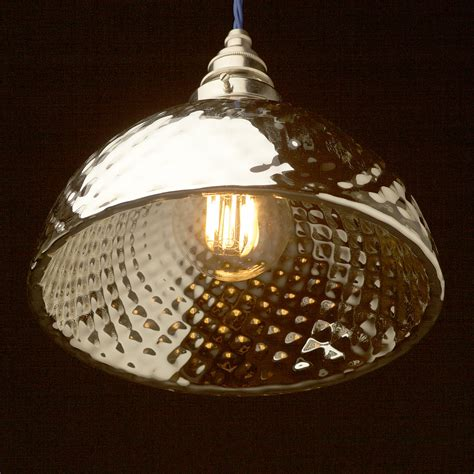 mercury glass globes with lights large silver quilted glass mercury x ray shade pendant