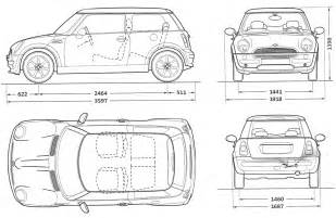 Mini Cooper Size Tutorials3d Blueprints Mini Cooper