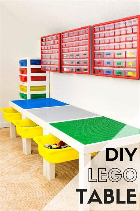Lego Table For by Diy Lego Table With Storage The Handyman S