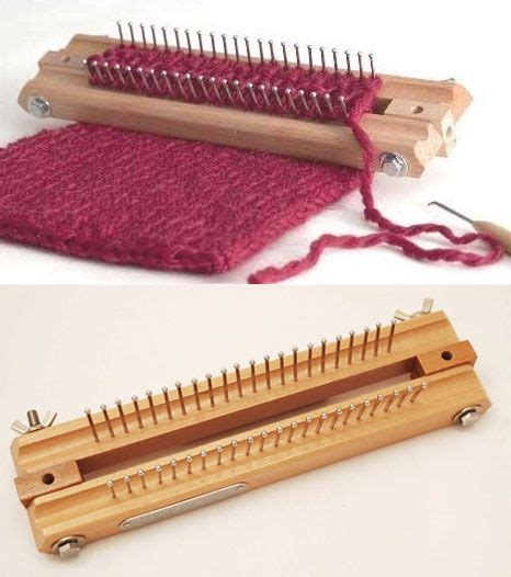 Renda Rajut 1 authentic knitting board 10 quot small with dvd