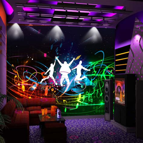 theme music mari custom modern fashion style wall painting bar ktv wall