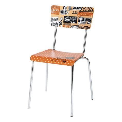 chaise vintage orange r 233 clam maisons du monde