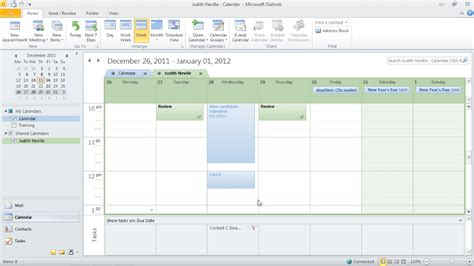 2 Calendars In Outlook 2010 Outlook 2010 Time Management With Calendar And Tasks