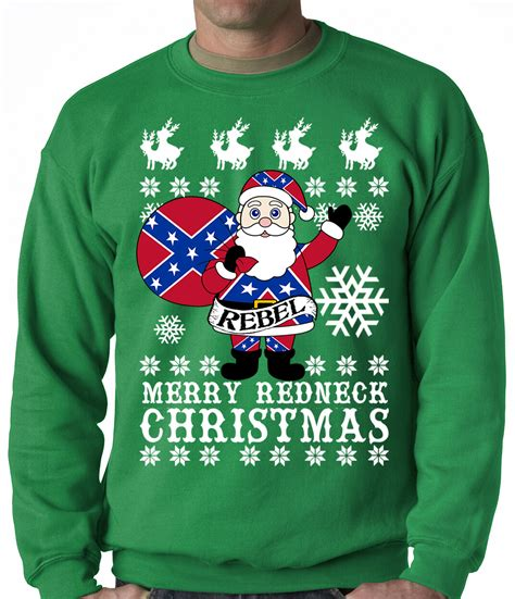Sweater Sweat Day rebel santa clause sweater crew neck sweat shirt