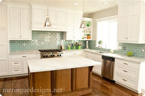 blue green glass tile backsplash gorgeous white cabinets marble blue green glass