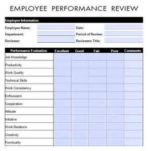 Employee Performance Review Templates by Free Employee Performance Review Form Template Use These