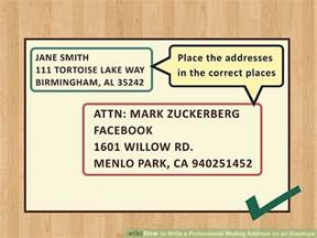how to make a letter envelope how to write a professional mailing address on an envelope