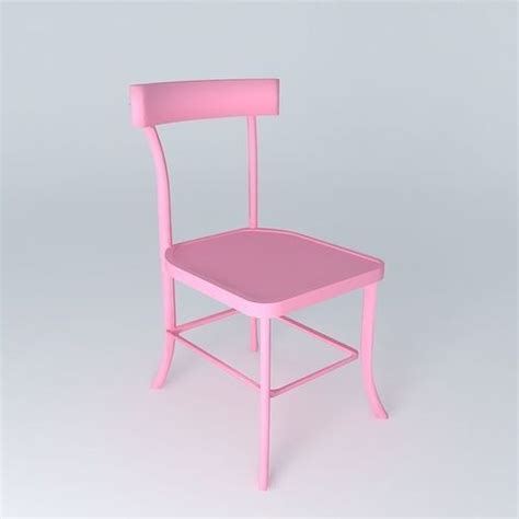 Pink Bistro Chair 3d Pink Chair Bistrot Houses The World Cgtrader