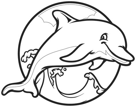 cartoon coloring pages dolphin