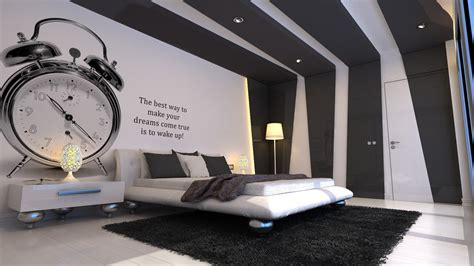 grey  white bedroom  insipiration wall quote