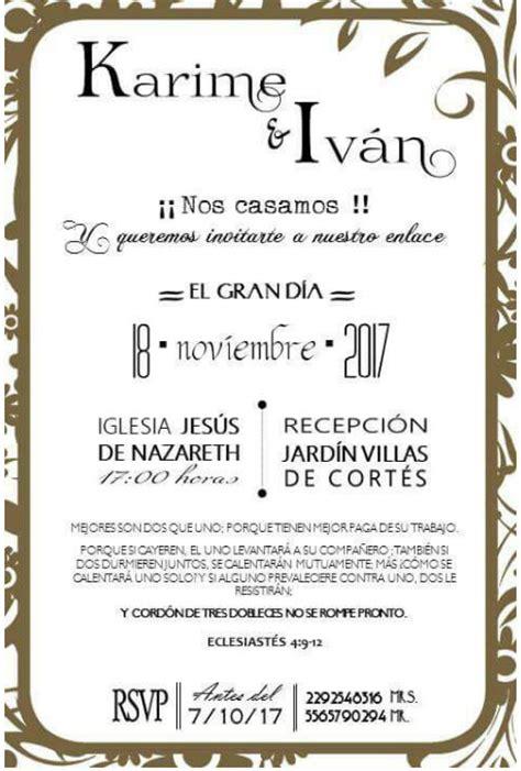 ejemplos de invitaciones de boda iellascom moda pases de invitaci 243 n foro organizar una boda bodas com mx