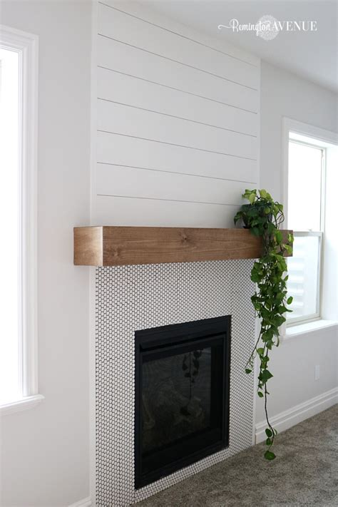 fireplace wood mantle easy diy wood mantel remington avenue