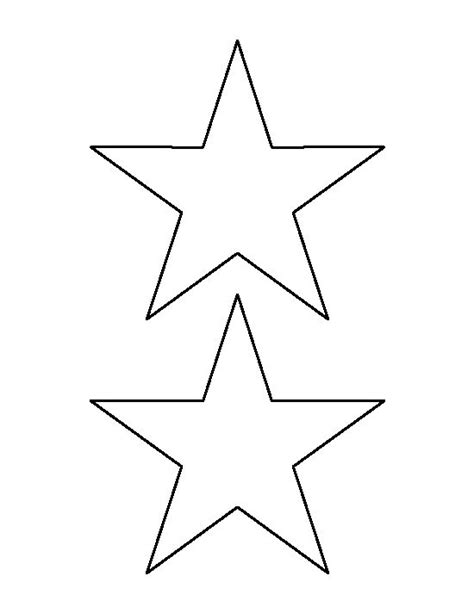 star pattern in c pdf 5 inch star pattern use the printable outline for crafts