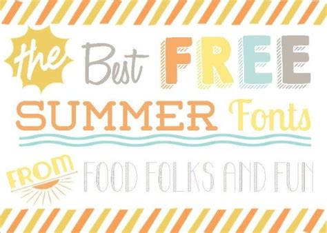 printable beach fonts 15 best free summer fonts food folks and fun