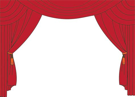 puppet show curtain theatre cliparts