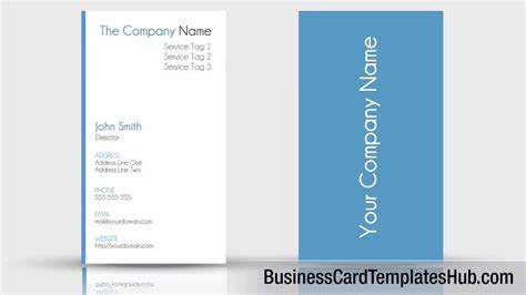 vertical template simple clean vertical business card template
