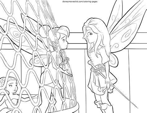 Disney s the pirate fairy zarina amp tinkerbell coloring page