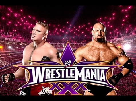 Bill Goldberg Bench Press Wwe Wrestlemania 30 Brock Lesnar Vs Goldberg Promo Youtube