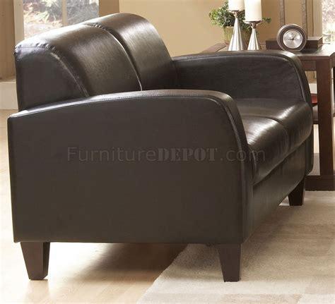 dark chocolate leather sofa 9915pu allen sofa in dark chocolate leather by homelegance