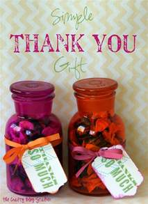 simple thank you gift the crafty blog stalker
