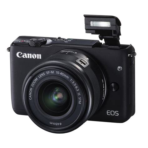 canon eos m10 compact system cameras ef m 15 45mm lens
