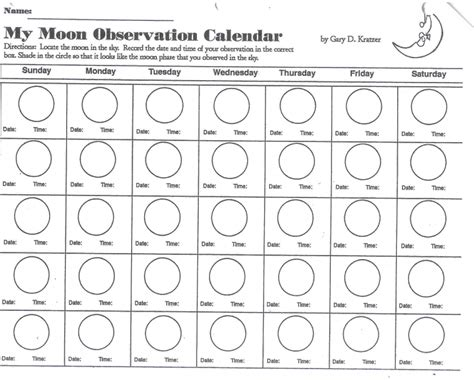 calendar with moon phases printable free calendar template