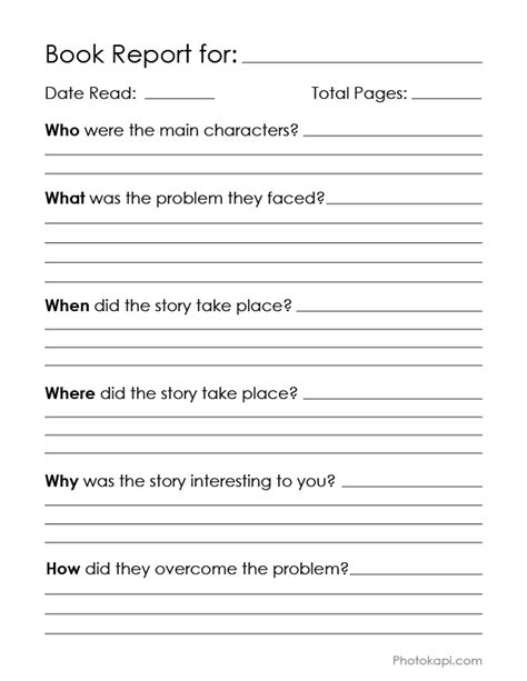 what is a book report book report chart photokapi