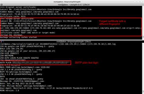 secure smtp port use sslsplit to transparently sniff tls ssl connections