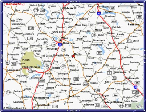 show me map of texas map showing location of marlin texas flickr photo