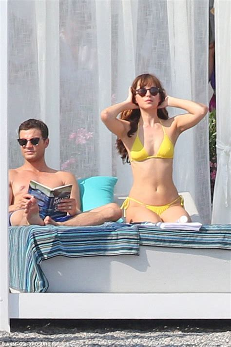 fifty shades of grey shaving scene dakota johnson goes topless while filming racy fifty