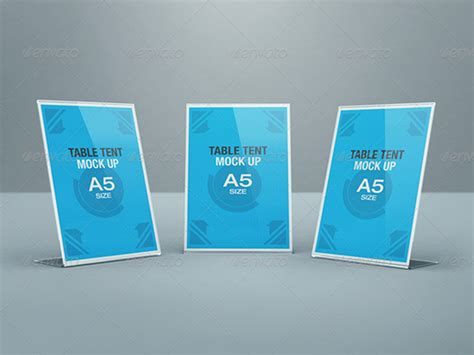Bar Top Ideas 20 Table Tent Card Mockups Amp Psd Templates
