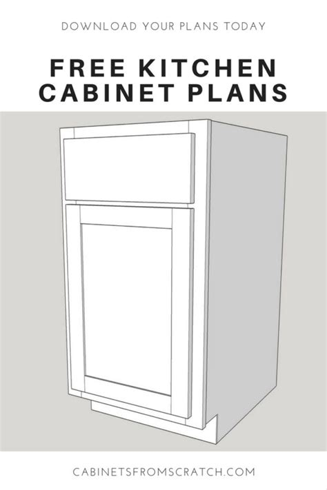 kitchen cabinet plans pdf our home from scratch