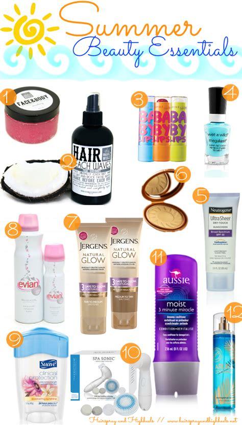 4 Posts With Summer Essentials by Summer Essentials Hairspray And Highheels