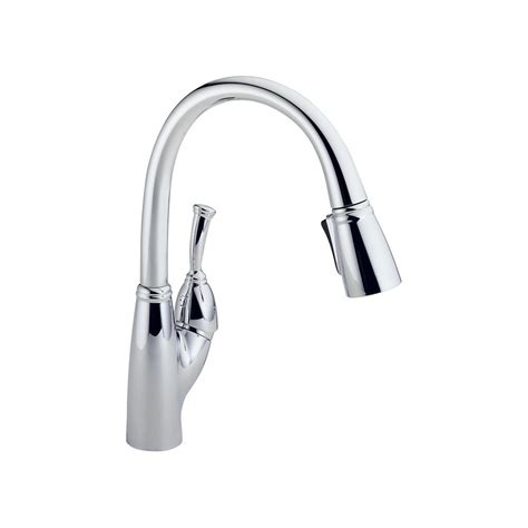 single handle kitchen faucet with sprayer delta allora single handle pull sprayer kitchen