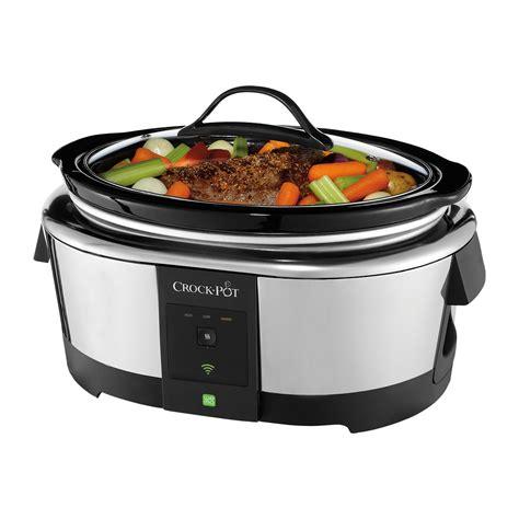amazon com crock pot smart wifi enabled wemo 6 quart slow crock pot 174 6 quart smart slow cooker with wemo
