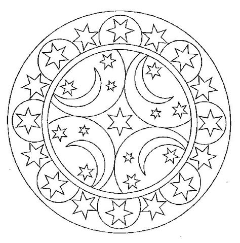 moon mandala coloring pages icolor quot the moon stars quot on pinterest coloring book