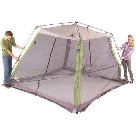 Coleman Instant Up Screen House With Awnings by Coleman 10 X10 Instant Canopy Screen House Walmart