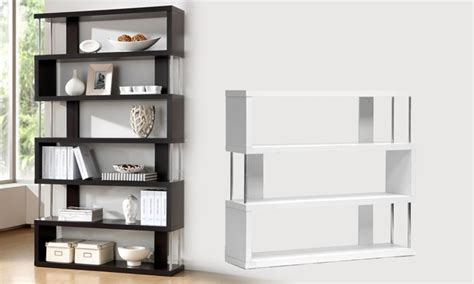 modern shelving modern display storage shelves groupon goods