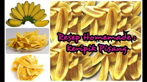 resep  membuat keripik pisang renyah sederhana