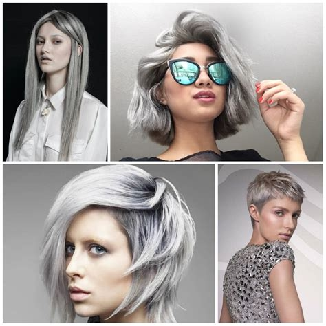hairstyles and colours for 2017 2016 2017 trendy grey hair colors and hairstyles best