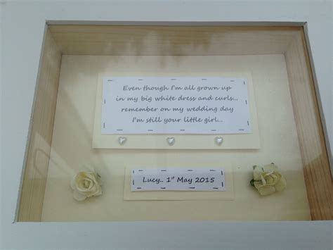 Wedding Box Frame Gifts by Shabby Personalised Chic Of The Wedding Gift