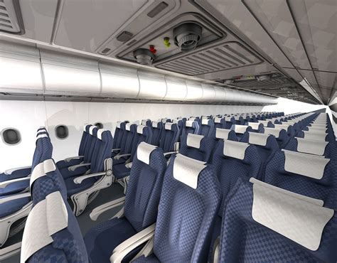 aviation upholstery airplane interior 3d model obj 3ds c4d cgtrader com