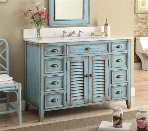 bathroom vanities beach cottage style 47 inch bathroom vanity cottage beach style distressed