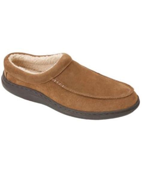club room slippers club room s slippers evan suede sherpa lined wool