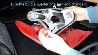 Peugeot 407 Rear Light Cluster How To Replace Light Bulb In Peugeot 407