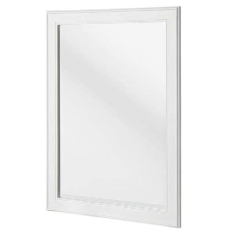 bathroom mirrors white frame home decorators collection gazette 24 in x 32 in framed