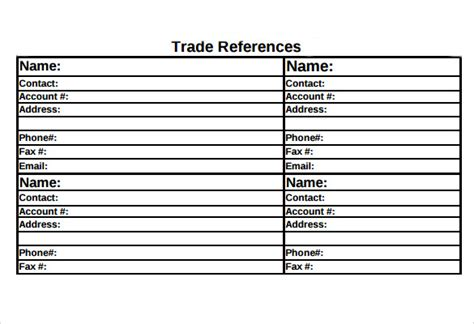 how to add trade references to your d b report