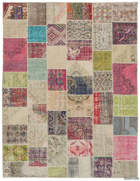 Patchwork Rugs - dyed turkish patchwork rug k0010452