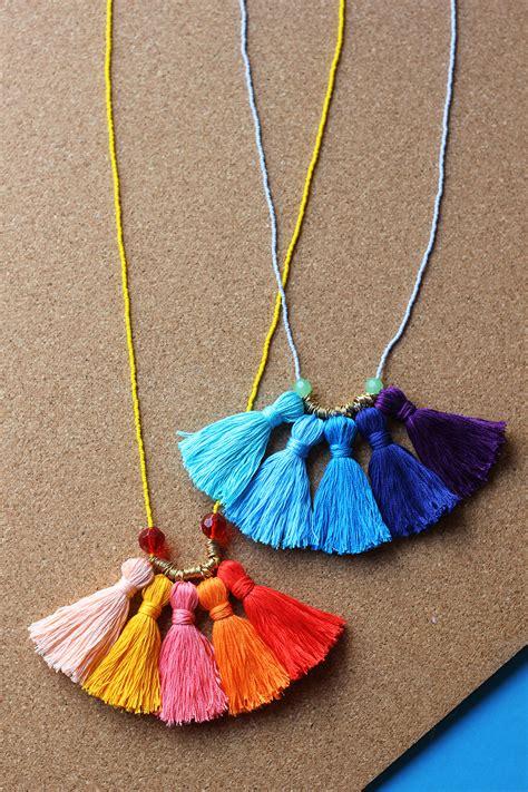 diy tassels diy ombr 233 tassel necklace homemadebanana